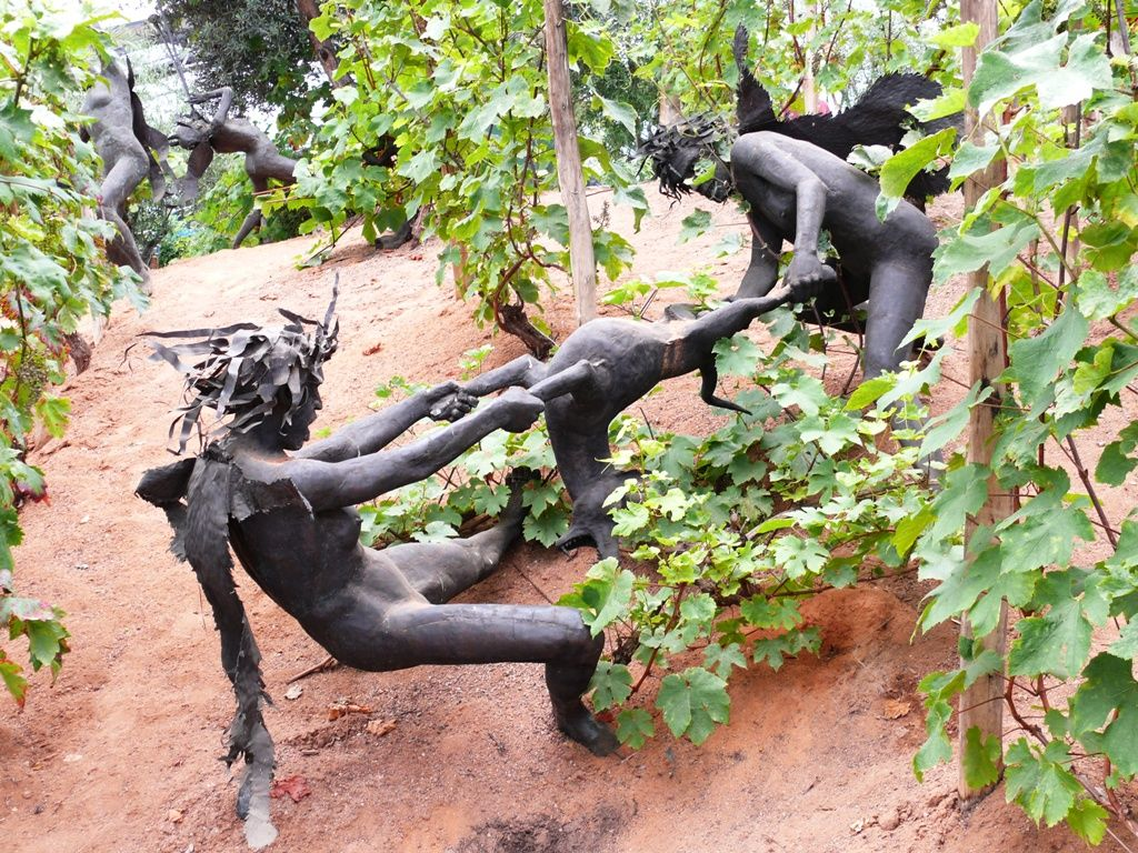 Garden Art Craft Ideas Virdigris Gardening